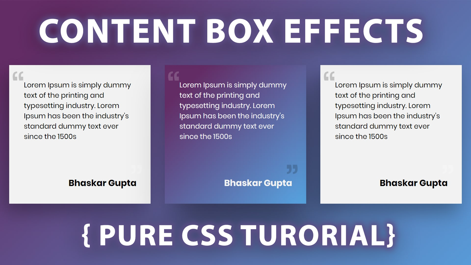 amezing content box hover effects using html  css